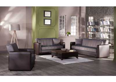 Image for Sidney Bolzoni Brown Love Seat W/ Storage