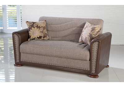 Alfa Redeyef Brown Love Seat