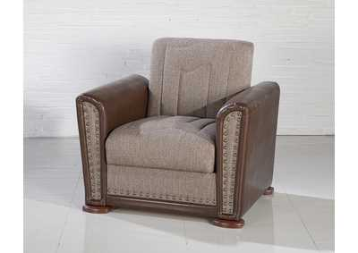 Alfa Redeyef Brown Armchair