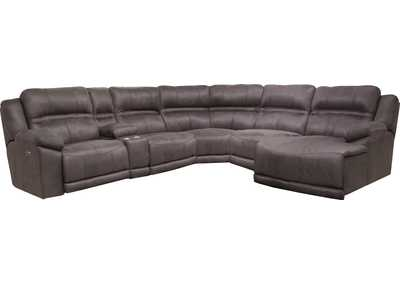 Image for Braxton Charcoal RAF Chaise Sectional