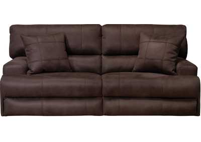Image for Monaco Dark Chocolate Lay Flat Reclining Sofa