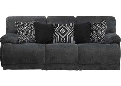 Montego Ebony Lay Flat Reclining Sofa