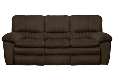 Image for Chocolate Lay Flat Reclining Sofa