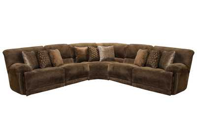 Image for Burbank Chocolate Lay Flat Reclining Sectional