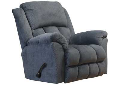 Bingham Charcoal Rocker Recliner w/Deluxe Heat & Massage