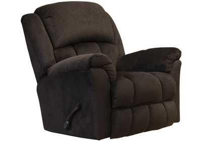 Bingham Chocolate Rocker Recliner w/Deluxe Heat & Massage