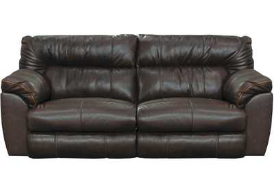 Image for Milan Chocolate Lay Flat Power Reclining Sofa