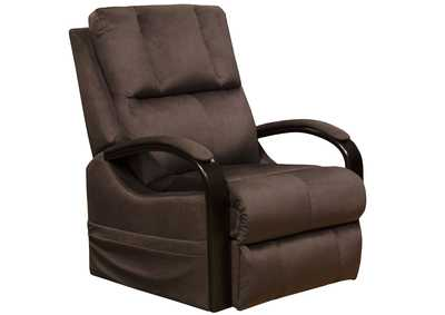 Chandler Walnut Power Lift Recliner w/Heat & Massage