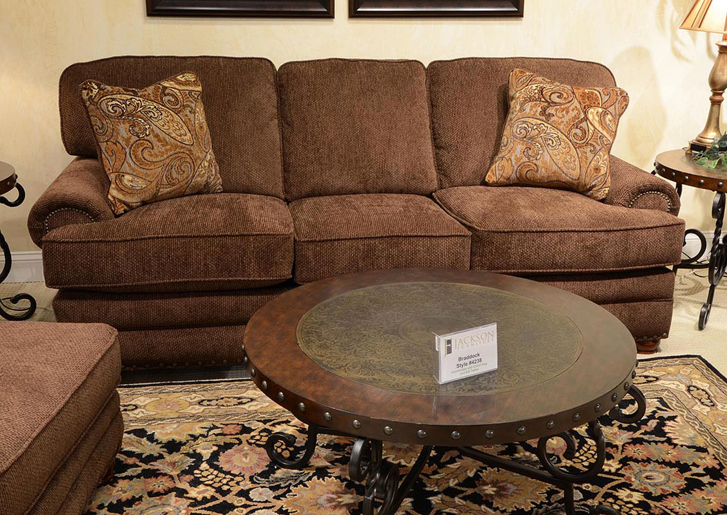 Living Room Center Braddock Espresso Sofa Loveseat