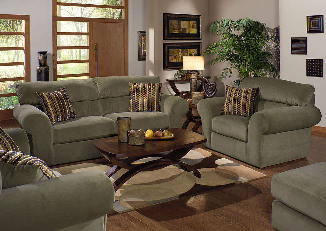 Mesa Sage Sofa, Loveseat U0026 Chair W/ Ottoman,Jackson