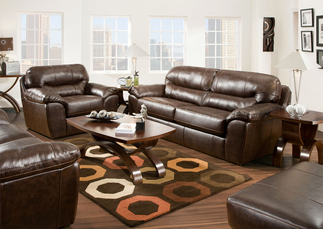 Brantley Java Sleeper & Loveseat,Jackson