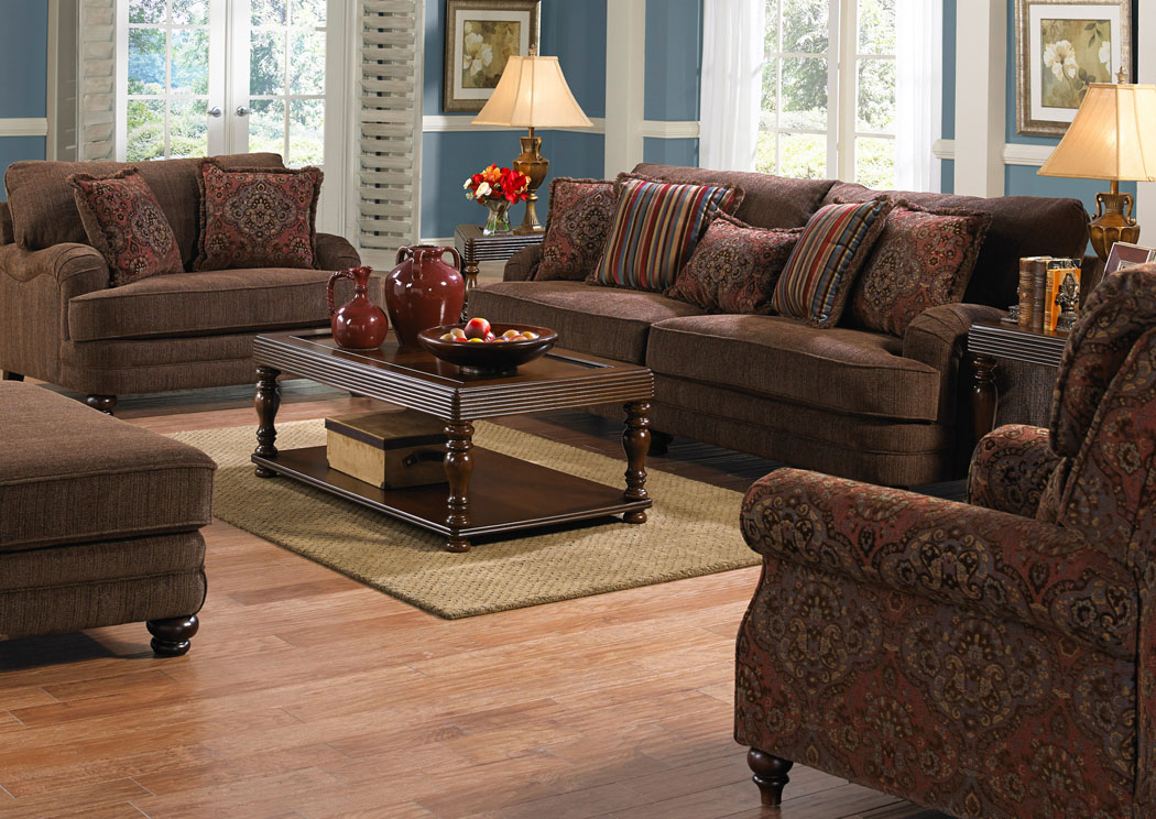 Captivating Brennan Auburn Sofa U0026 Loveseat,Jackson