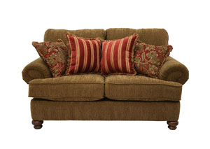 Belmont Umber Loveseat & Chair w/ Ottoman