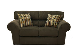Mesa Chocolate Loveseat & Chair w/ Ottoman