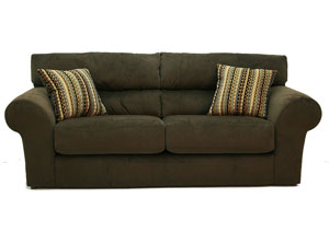 Mesa Chocolate Sofa, Loveseat & Chair w/ Ottoman