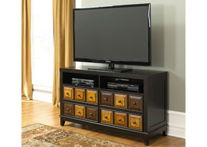 Apothecary Drawer TV Console/Wine Shelf