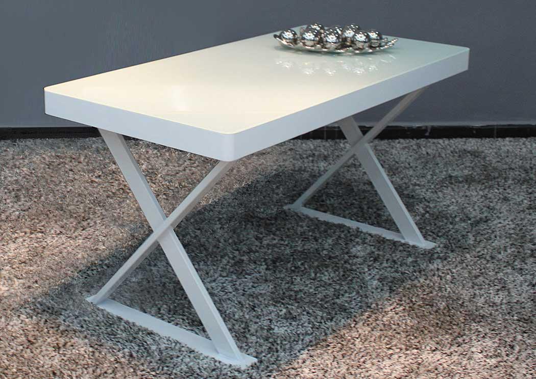 Modern White Glass Top Office Desk,Ju0026M Furniture