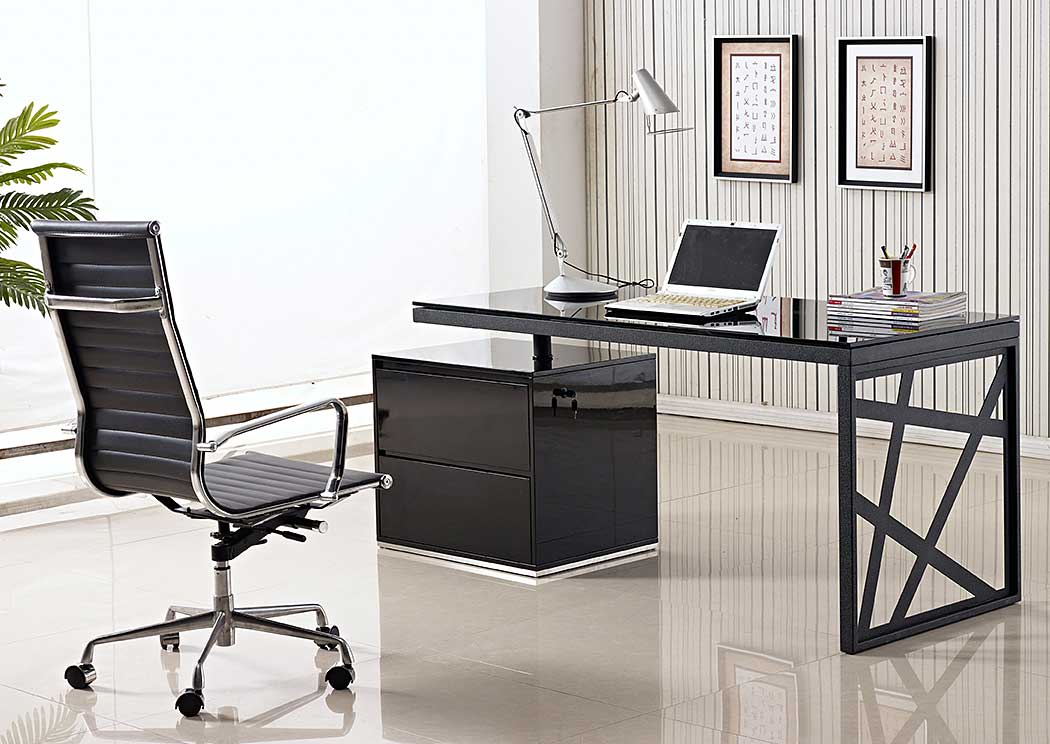 Modern Geometric Office Desk,Ju0026M Furniture
