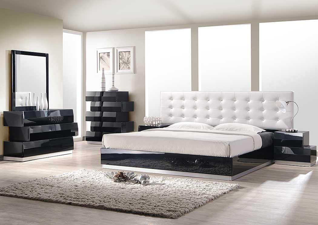 Ny Furniture Direct Freeport Ny Milan Black King Bed Dresser