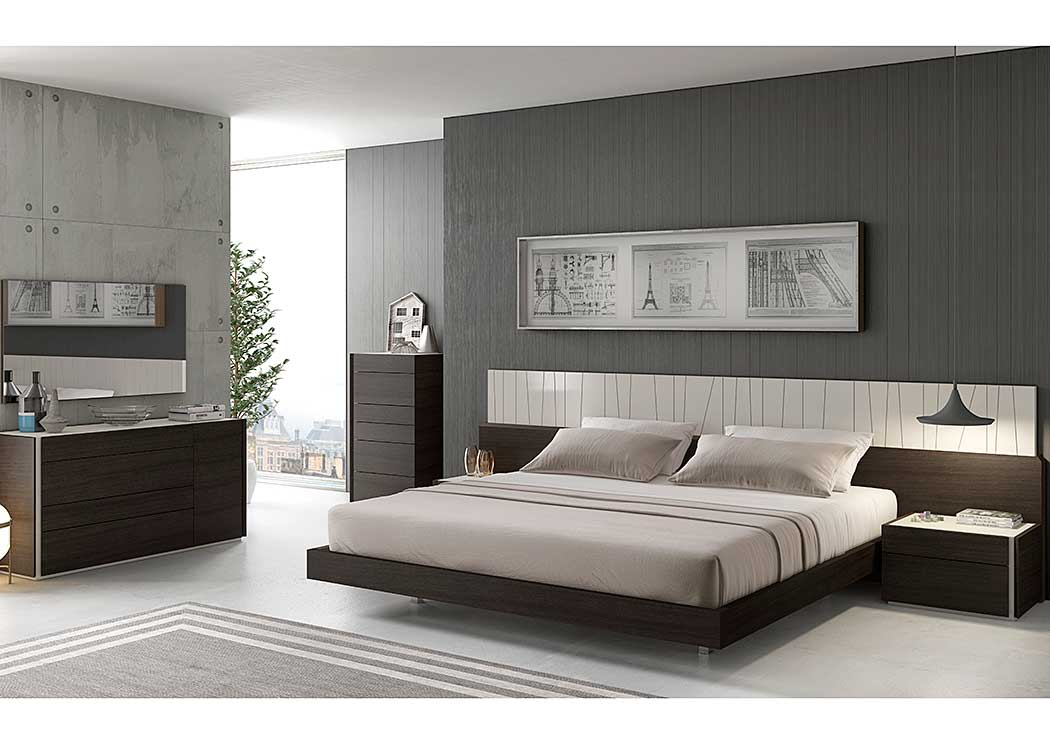 Porto Queen Bed, Dresser & Mirror,J&M Furniture