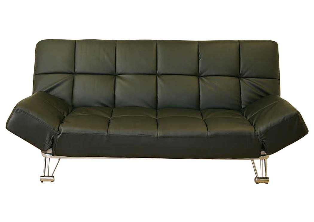 Best Buy Furniture and Mattress Venus Black Vinyl Sofa Bed