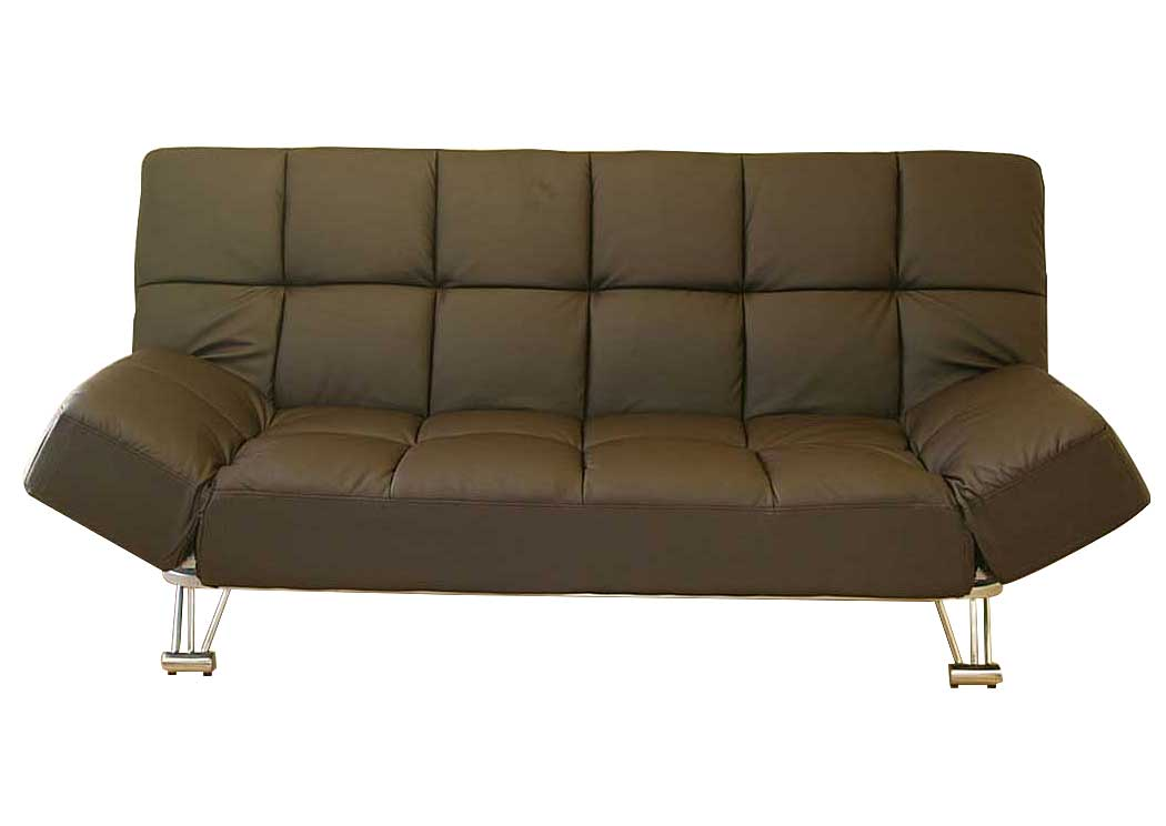 Venus Chocolate Vinyl Sofa Bed,Ju0026M Furniture