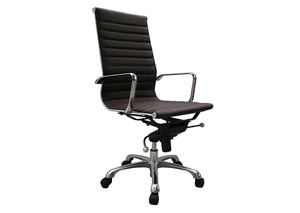 Brown Comfy High Back Office Chair
