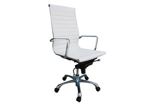 White Comfy High Back Office Chair