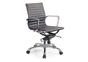 Black Comfy Low Back Office Chair