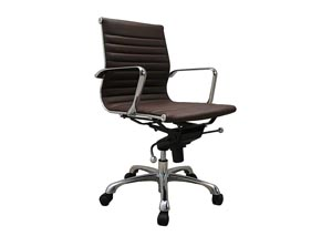 Brown Comfy Low Back Office Chair