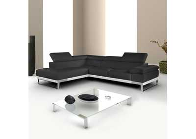 Image for Black Nicoletti Domus Left Facing Chaise