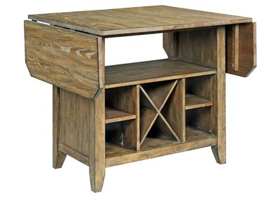 The Nook Brushed Oak Kitchen Island