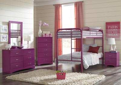 Metal Raspberry Twin/Twin Metal Bunkbed