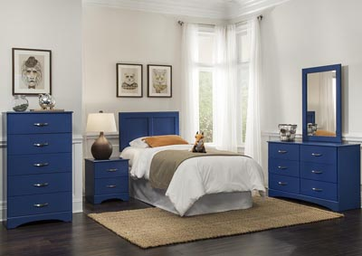 Royal Blue Twin Panel Headboard