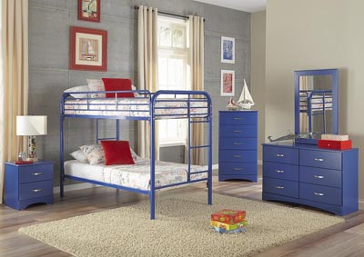 Metal Royal Blue Twin/Twin Metal Bunkbed