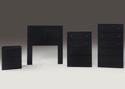 Black 4 Drawer Chest