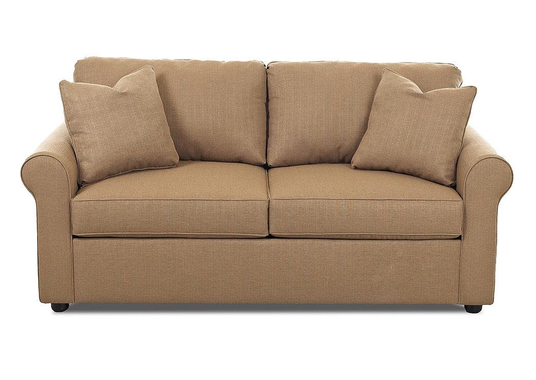 Weiss Furniture Brighton Hilo Rattan Sleeper Fabric Sofa