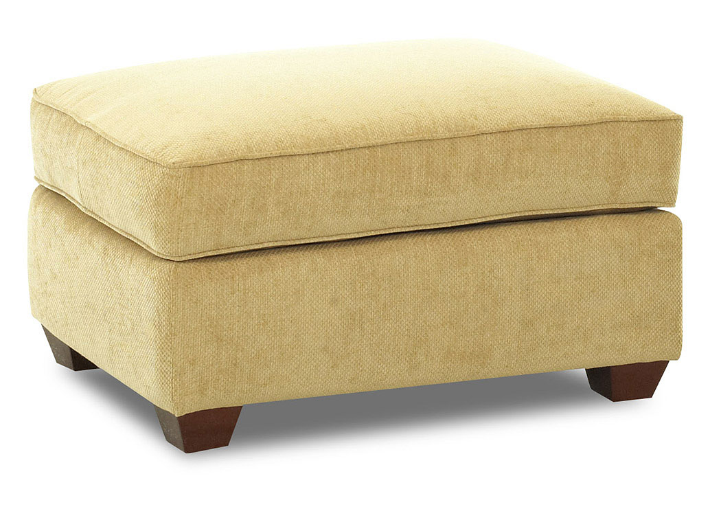 Fletcher Buttercup Fabric Ottoman,Klaussner Home Furnishings