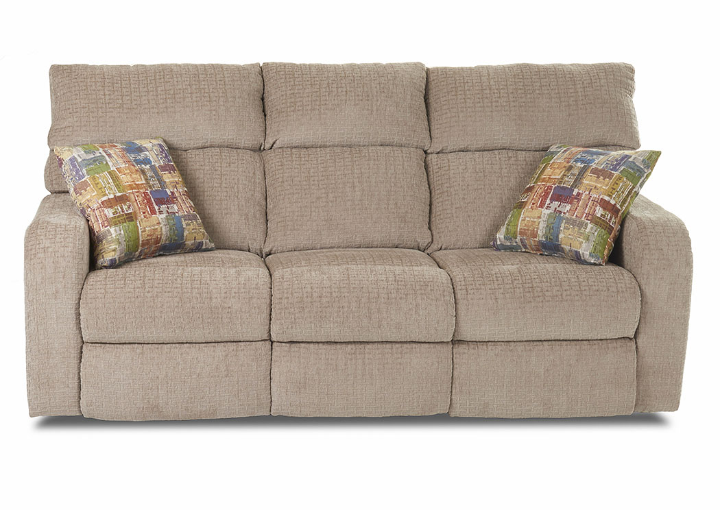 Bradford Stone Reclining Fabric U0026 Leather Sofa,Klaussner Home Furnishings