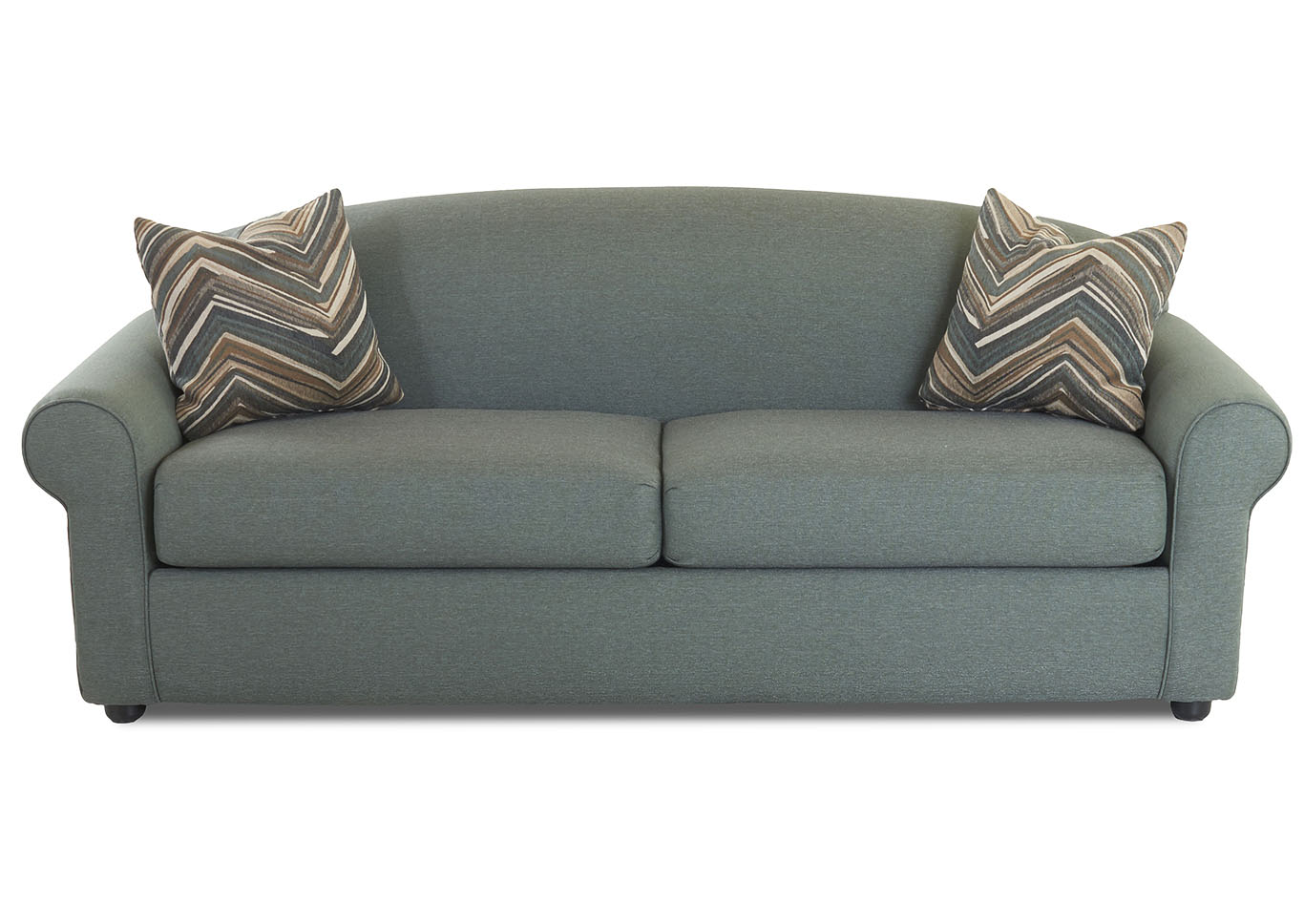 Beautiful Possibilities Turquoise Sleeper Fabric Sofa,Klaussner Home Furnishings