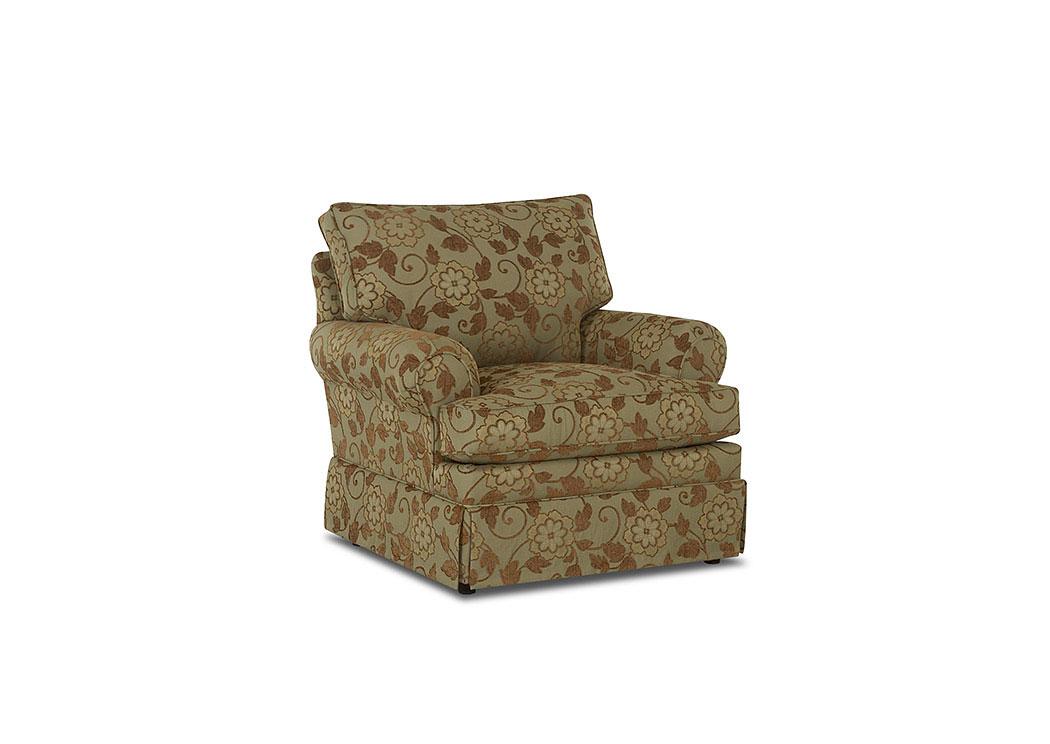 Carolina Multi Colored Stationary Fabric Chair,Klaussner Home Furnishings