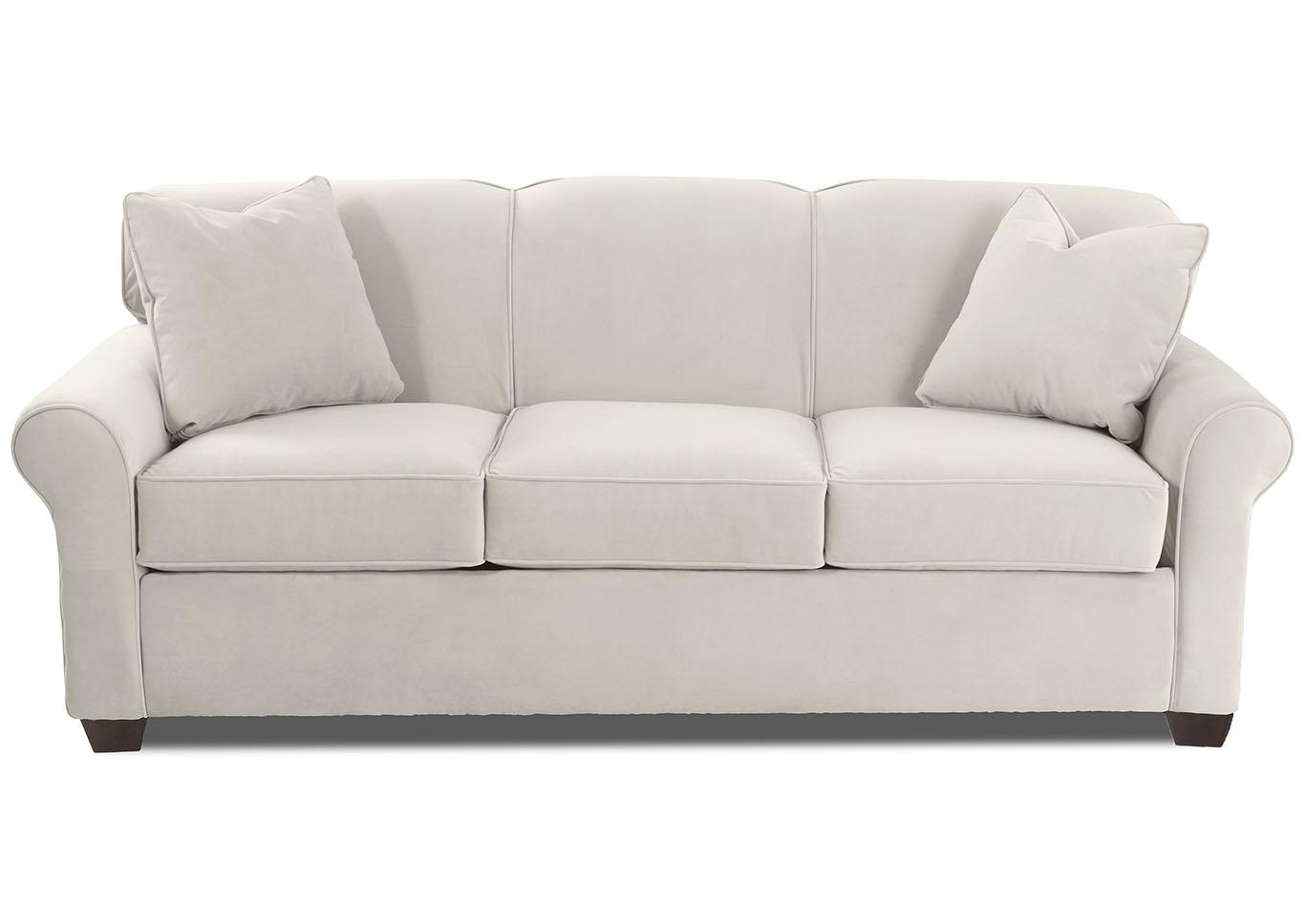 Mayhew White Sleeper Fabric Sofa Furniture World