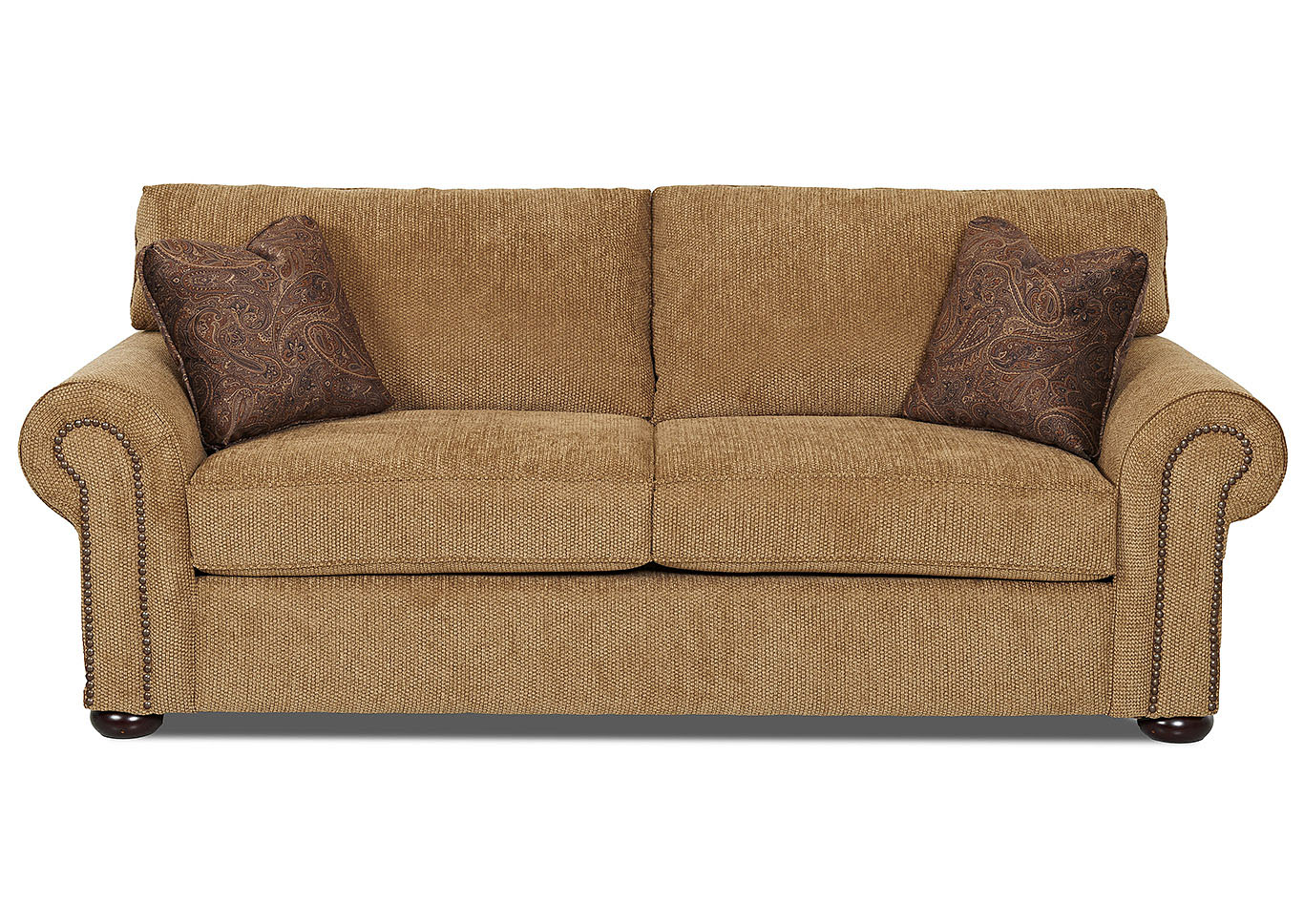 Best Buy Furniture and Mattress Sienna Light Brown Fabric Sofa