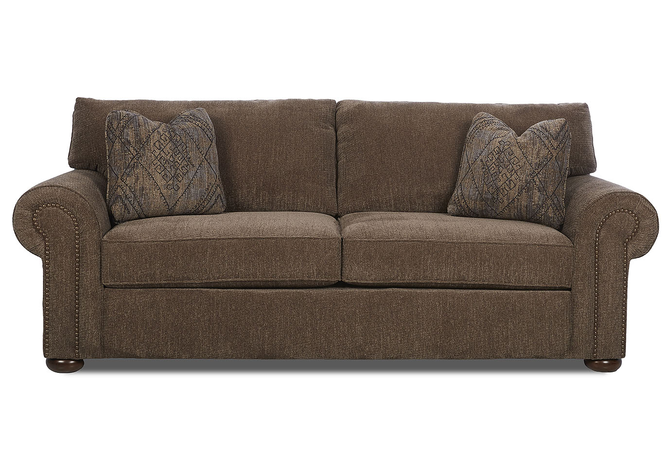 Hornell Furniture Outlet Sienna Dark Brown Fabric Sofa