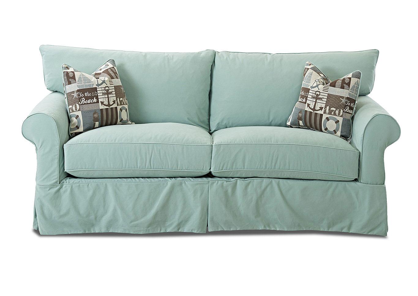 Jenny Bayou Spray Stationary Fabric Sofa,Klaussner Home Furnishings