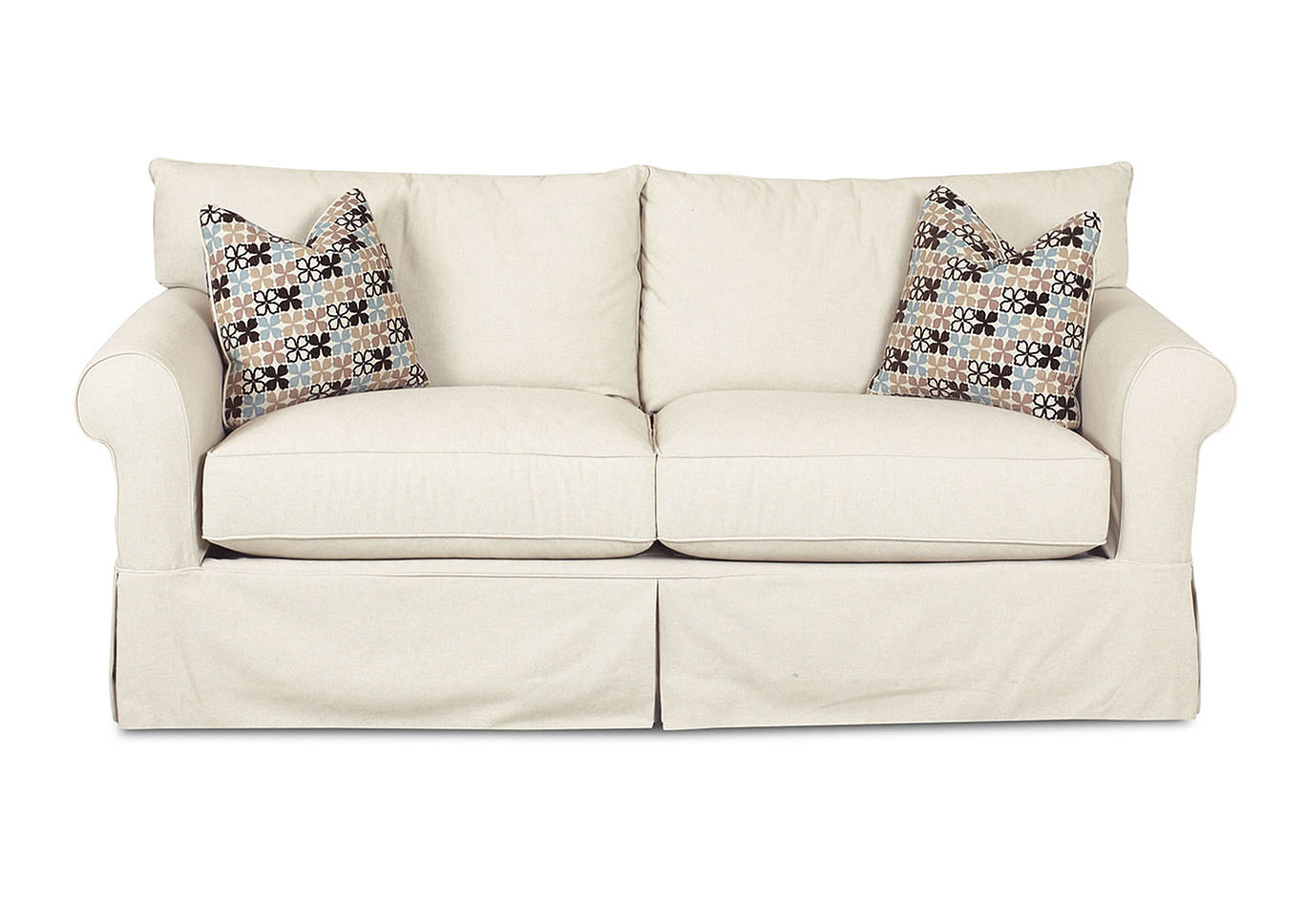 Jenny Beige Stationary Fabric Sofa,Klaussner Home Furnishings