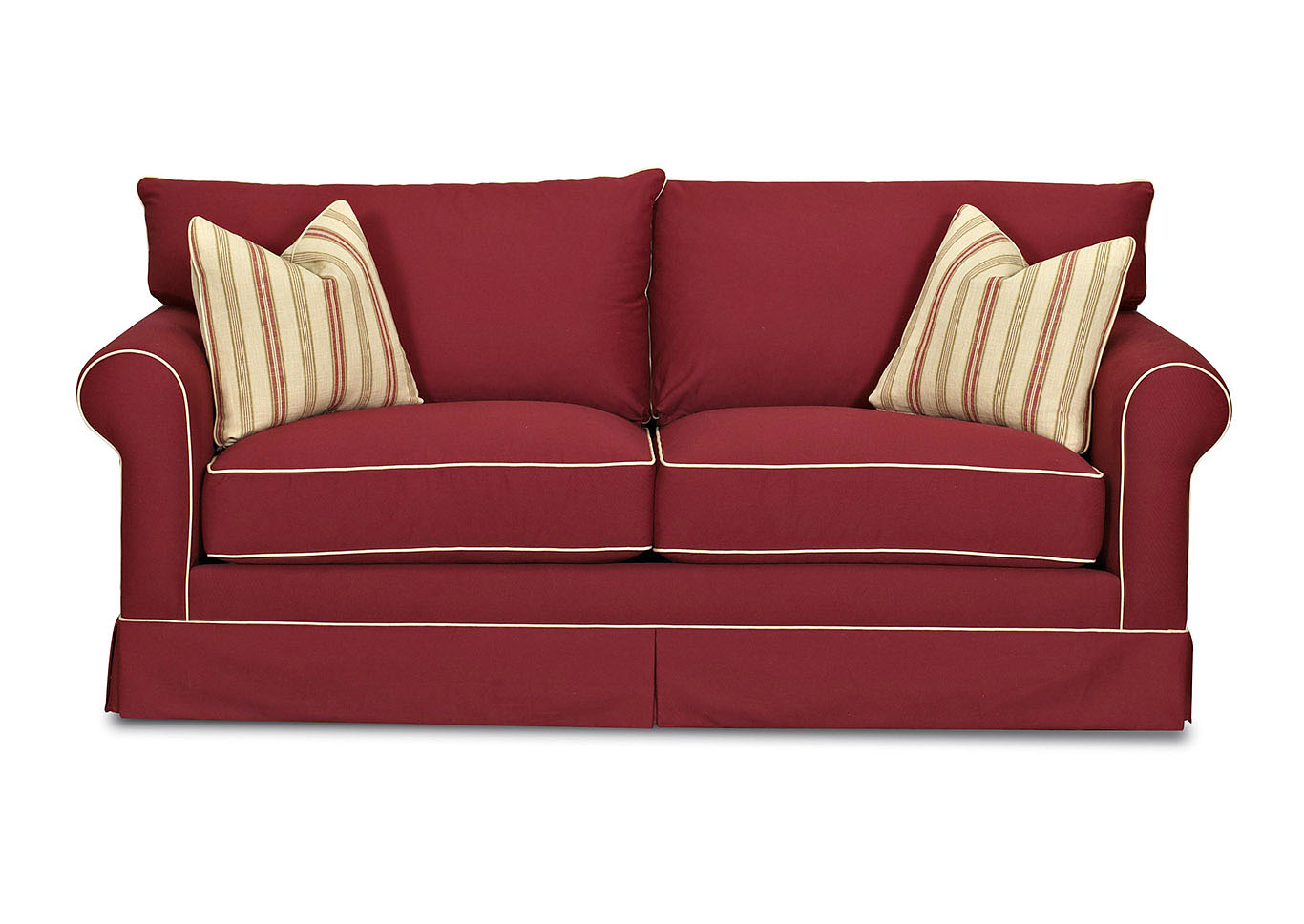 Charmant Jenny Red Stationary Fabric Sofa,Klaussner Home Furnishings