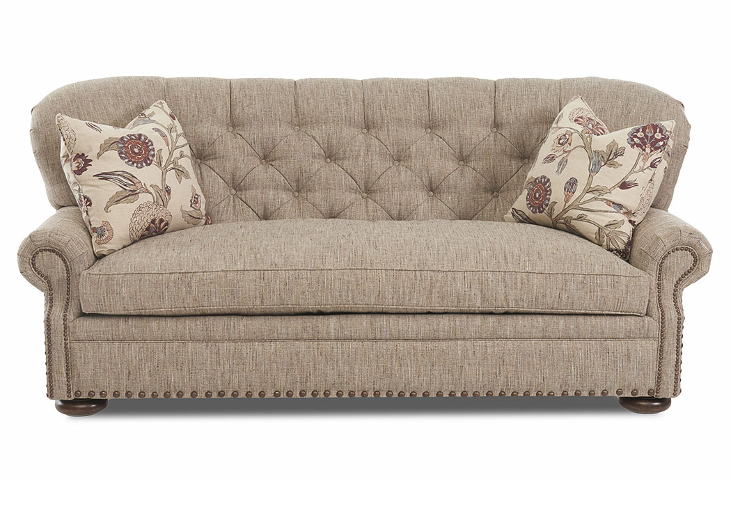 Kennedy Gray Stationary Fabric Sofa,Klaussner Home Furnishings