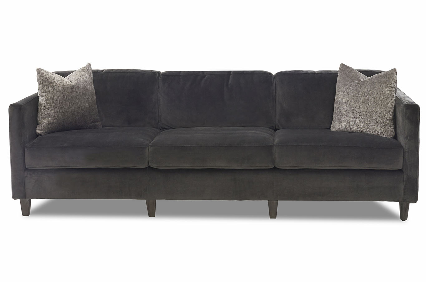 Beau Soho Romo Pewter Stationary Fabric Sofa,Klaussner Home Furnishings
