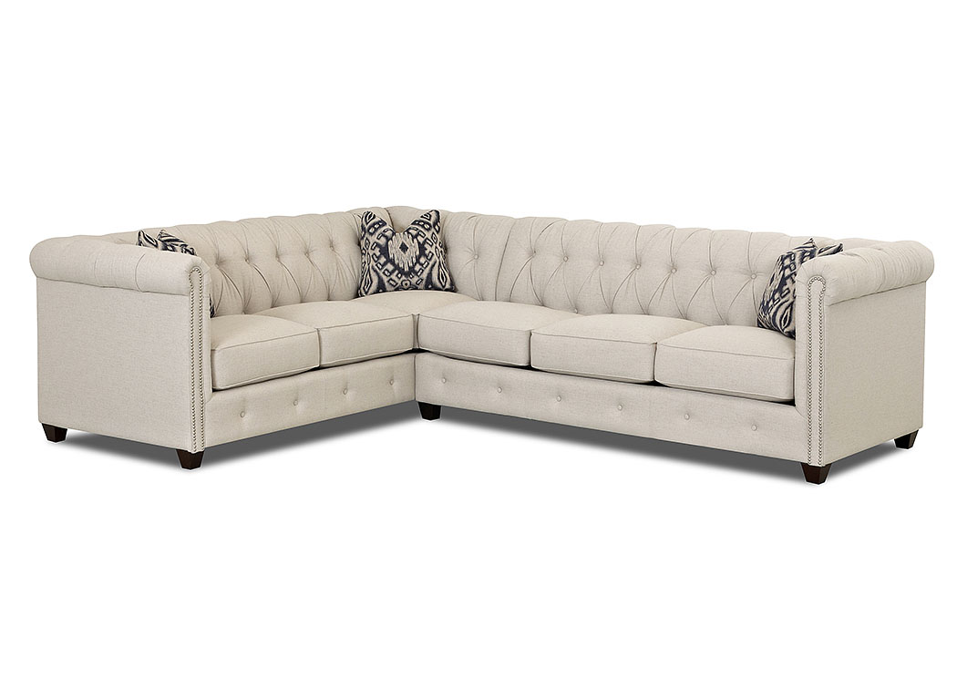 Beech Mountain Lizzy Linen Stationary Fabric Sectional,Klaussner Home  Furnishings